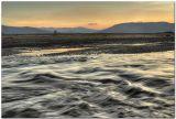 Вода, течение, волны, горы, закат, жизнь, движение