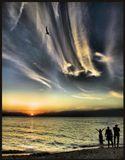Азовское море  Ейск вечер
