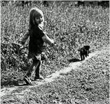 ...Увидев маленького щенка овчарки, пробегающего мимо нас...Сашенька рванула за ним так быстро, что мы даже растерялись...