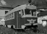 А было время, раскатывали трамвайчики по городу, чётко отбивая шаг..но нынче их нет..и только этот, стоя на задворках, напоминает нам о былых временах..
