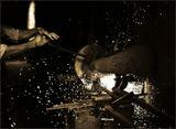 металл, индустрия, руки