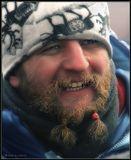 Скорее всего иностранец на празднике Сагаалган (бурятский Новый год). Февральский холодный и очень ветренный день. Максимальный оптический зум (20 крат). 2009 год.