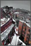 город, питер, санкт-петербург, петербург, красота, снег, зима, крыши, дома, вечер, вечерний город, прогулка, окна, свет, цвет