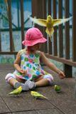 волнистые попугайчики, дети, случайный кадр