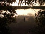 Закат озеро