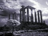 Храм посейдона в Суино, Греции. Инфракрасный спектр.