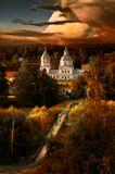 Мост через Протву в Верее. Церковь Богоявления.