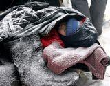Масленица, подмосковье. Ребенок набегался, устал и его уложили спать.