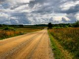 осень природа пейзаж дорога