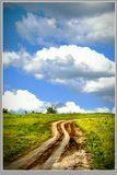 облака, небо, дорога,