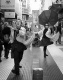 Актеры на улицах Буэйнос-Айреса зарабатывают свою копеечку. Август 2008-го.