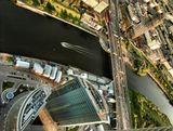 Москва Краснопресненская набережная с самой высокой крыши Европы