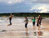 Паланга море девушки