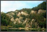 198Х год Река Белая Бурзянский заповедник. после сканирования слайда и обработки, интересный эффект получился...