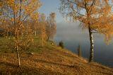 Осень, озеро, утро