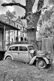 Исторический центр ХарьковаСтарый город, старый автомобиль