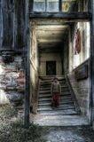 девочка лестница