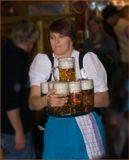 """Рекорд, который я лично наблюдал - 12 литровых кружек в руках """"простой баварской девушки"""" :-). Октоберфест, одним словом. Там, где """"пива много не бывает"""" :-)"""