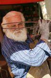 Кузнец Богдан (с внешностью Санта-Клауса), увидев камеру с удовольствием стал принимать разные позы под тяжёлый рок, играющий в его кузнице.  Цетинье, 2009.