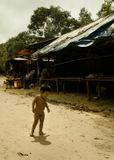 Камбоджия.Высокогорное селение, на северо-западе страны. Нищета...