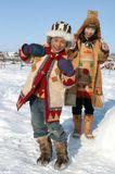 якутские дети с севера Якутии очень рады каждой новой встрече. Гости там большая редкость.
