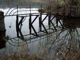 Москва, Головинские пруды, мостик, осень, разруха