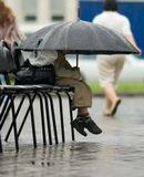 мальчик, зонтик, дождь