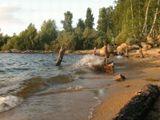 Озеро Аргази. Закат.