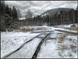 Русло ручья перемерзло и вода широко разлилась. А снег все это прикрыл..---------------:) ноябрь месяц в Бурятии. У нас уже зима. А у вас? :)