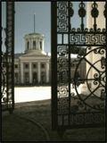 Архангельское, утро, май, дворец, ворота