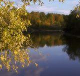 Осень, закат, краски, тишина, река