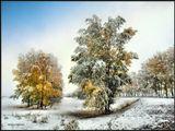 """19 сентября 2009 года. Неожиданный """"прикид"""" Зимы :)  Бурятия."""