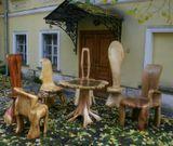 Необычная мебель...слева на право...дикий Каштан,Тис,Клён,Вяз,Тополь,Платан,стол из ГРАБа...