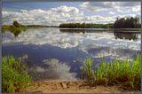 Озеро Вселуг селигерской системы озер. По дороге на Ширков погост.