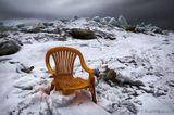 landscape nature sky ice chair  winter snow пейзаж небо природа кресло снег лёд зима