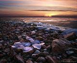 лёд камень пейзаж зима закат природа nature landscape ice winter sunset stone