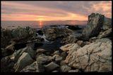 море скалы закат прибой