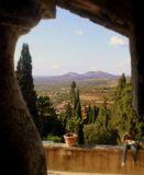 Вид из замка Villa Deste