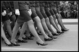 Парад, школа милиции, милиционер, женщины.