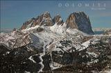 Один из макетов плаката рекламной серии по Доломитовым Альпам.