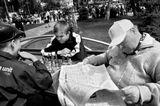 Шахматы, игра, дети, тренер