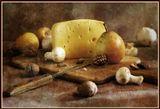 груши, сыр, грибы, орехи