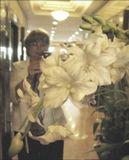 С праздником!  :)Белые орхидеи и.... опять неудавшийся автопортрет...