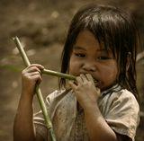 Лаос. Деревенские жители - Хмонги.
