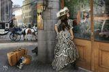 Коллаж из фотографий, модель снята в студии, но от нее мало чего осталось :-)девушка багаж собачка кошка афиша