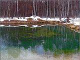 еще снег не успел растаять.. но озеро очистилось ото льда... и выглядело на удивление цветущим)