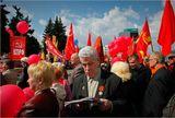 Демонстрация коммунистов на пл. Революции г. Челябинска
