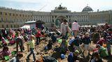У Главного штаба - главная песочница для главных жителей Санкт-Петербурга