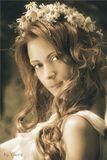 Модель: АлександраПленердевушка, лето, портрет, нимфа, лес
