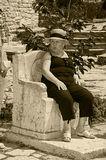 Кресло румынской княгини Марии. Ботанический сад.Балчик. Болгария.